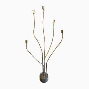 Lámpara de pie regulable vintage de metal, años 70