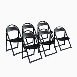 Model B751 Beech Folding Chairs from Thonet, 1970s, Set of 6