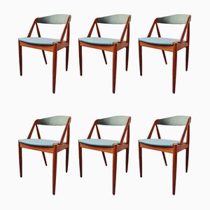 Mid-Century Teak Model 31 Dining Chairs by Kai Kristiansen, Set of 6