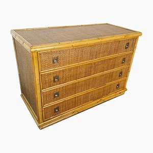 Bamboo and Rattan Dresser from Dal Vera, 1960s