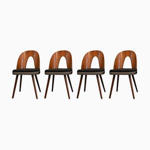 Chaises de Salle à Manger en Noyer par Antonín Šuman pour Mier, 1960s, Set de 4