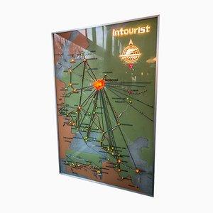 Mapa vintage, años 60