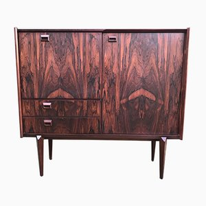 Belgian Rosewood Highboard by Oswald Vermaercke for V-Form, 1960s