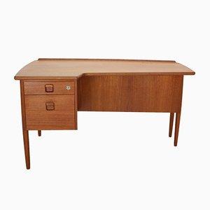 Skandinavischer Schreibtisch aus Teak in Bumerang-Optik von Göran Strand für Lelångs Möbelfabrik, 1950er