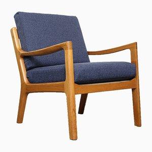 Dänischer Sessel mit Gestell aus Teak von Ole Wanscher für Poul Jeppesens Møbelfabrik, 1960er