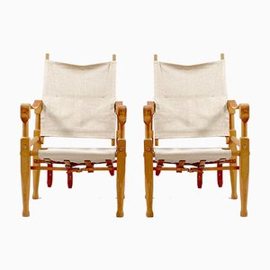 Vintage Safari Chairs by Wilhelm Kienzle for Wohnbedarf, Set of 2