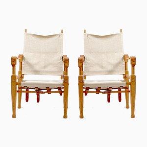 Vintage Safari Stühle von Wilhelm Kienzle für Wohnbedarf, 2er Set