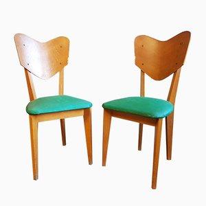 Esszimmerstühle, 1950er, 2er Set
