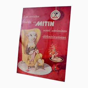 Metal Sign from Mitin, 1953