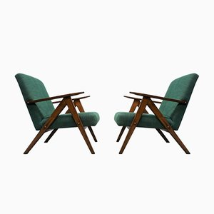 Mid-Century Green Model B 310 Armchairs, 1960s, Set of 2