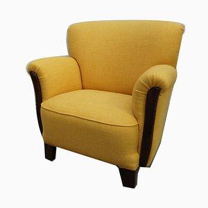 Mid-Century Art Deco Yellow Lounge Chair