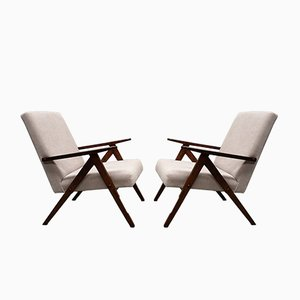 Mid-Century Beige Model B 310 Armchairs, 1960s, Set of 2