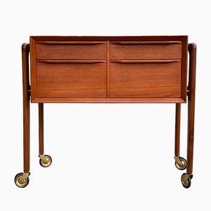 Mid-Century Teak Sewing Cabinet by Arne Vodder