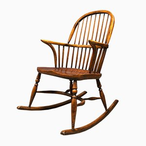 Antique English Windsor Rocking Chair, 1900s