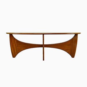Mid-Century Teak & Glass Coffee Table by Victor Wilkins for G-Plan
