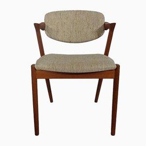 Chaise d'Appoint Modèle 42 en Teck par Kai Kristiansen pour Schou Andersen, années 60