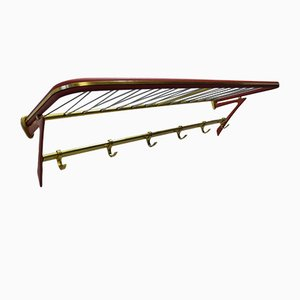 Mid-Century Coat Rack with Shelf, 1950s