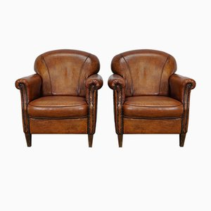 Vintage Club Chairs, Set of 2