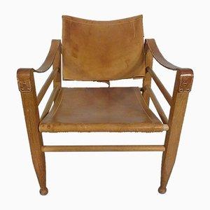Oak & Leather Model 2221 Armchair by Børge Mogensen, 1950s