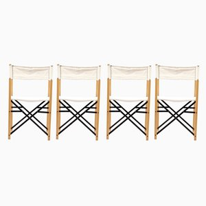 Mid-Century German Folding Chairs, Set of 4