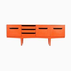 Orangefarbenes Sideboard, 1970er