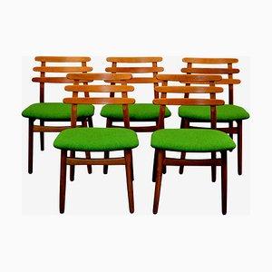 Mid-Century Esszimmerstühle aus Eiche von Poul Volther für FDB, 5er Set
