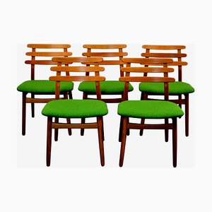 Mid-Century Oak Dining Chairs by Poul Volther for FDB, Set of 5