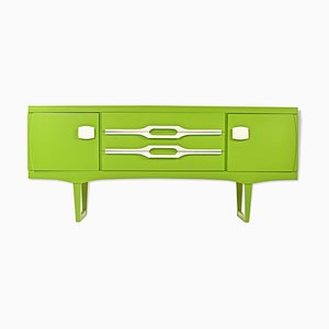 Green Lacquered Sideboard, 1970s