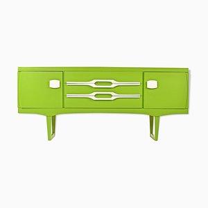 Grün lackiertes Sideboard, 1970er