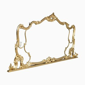19th Century Italian Gilded Carved Walnut Wall Mirror