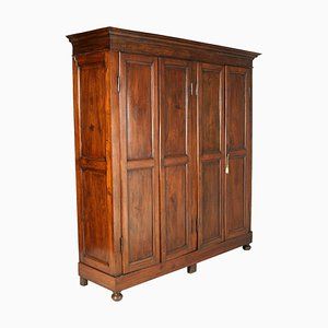 Large 19th Century Neoclassical Solid Walnut Cabinet