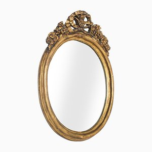 17th Century Oval Giltwood Mirror