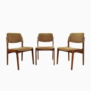 Chaises de Salle à Manger Mid-Century en Teck, Danemark, années 60, Set de 3