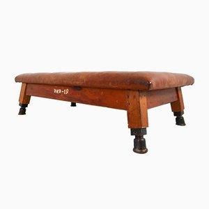 Banco de gimnasia o mesa de cuero, años 30