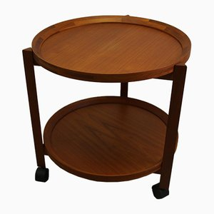 Danish Round Teak Trolley from Sika Møbler, 1960s