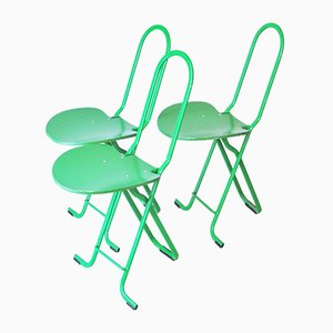 Folding Chairs by Gastone Rinaldi for Thema, 1970s, Set of 3