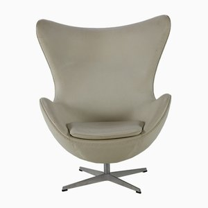 Leather Egg Lounge Chair by Arne Jacobsen for Fritz Hansen, 2004