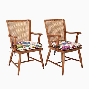 Austrian Ashwood Armchairs by Josef Frank, 1920s, Set of 2