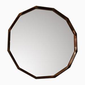 Specchio in palissandro di Tredici, anni '50