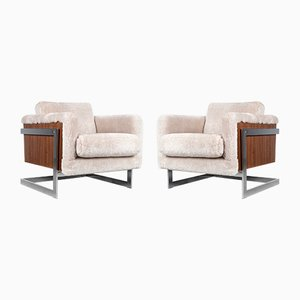 Cube Lounge Chairs by Milo Baughman for Thayer Coggin, 1970s, Set of 2
