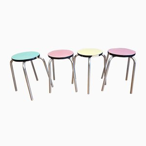 Vintage Stools, 1950s, Set of 4