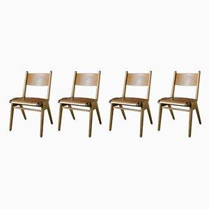 Chaises de Bistrot en Bois, années 60, Set de 4