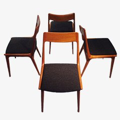 Boomerang Dining Chairs by Erik Christensen for Slagelse Mobelvaerk, Set of 4