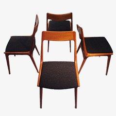 Chaises de Salon Boomerang par Erik Christensen pour Slagelse Mobelvaerk, Set de 4