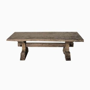 Antique Rustic French Chestnut Farmhouse Dining Table