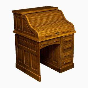 Antiker Schreibtisch aus Eiche mit Rolltop von Globe Wernicke