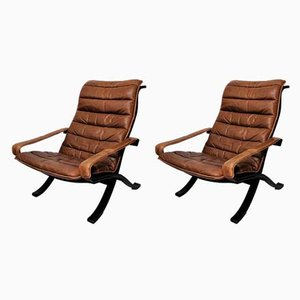 Mid-Century Flex Lounge Chairs by Ingmar Relling for Westnofa, Set of 2