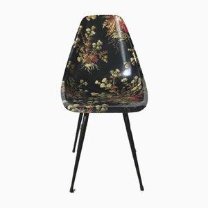 Sedia in fibra di vetro di René-Jean Caillette, anni '50
