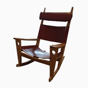 Rocking-chair Modèle GE-673 Keyhole par Hans J. Wegner pour Fritz Hansen, Danemark, années 50