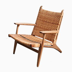 CH-27 Lounge Chair by Hans J. Wegner for Carl Hansen & Søn, 1950s